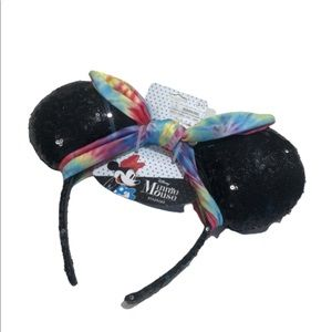 Minnie Mouse ears sequins tie die One size